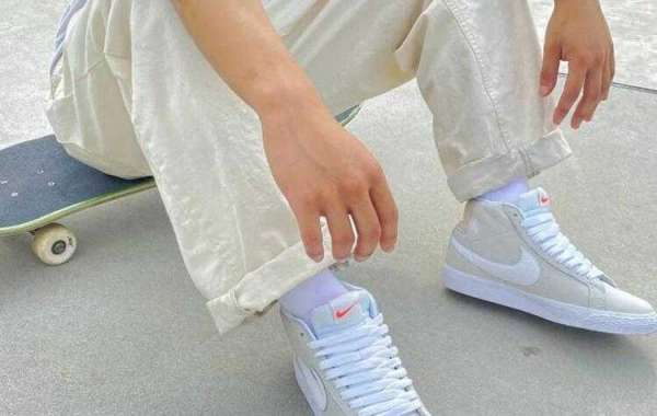 Latest Nike SB Blazer Mid Unbleached Dress Up With Clean Summit White